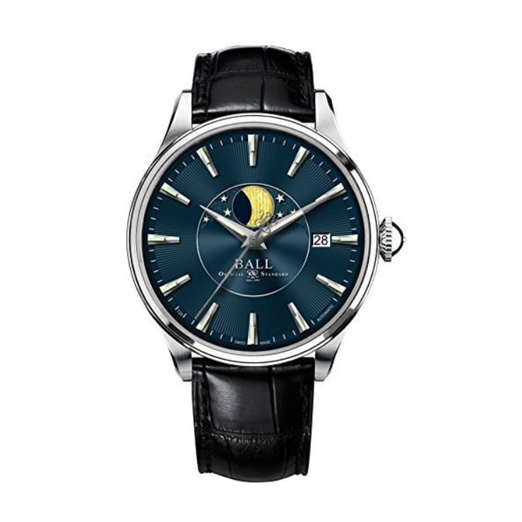 Ball Trainmaster Moon Phase Date 40mm Blue Face