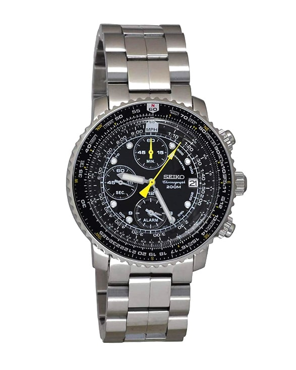 Seiko Men's SNA411 Flight Alarm Chronograph